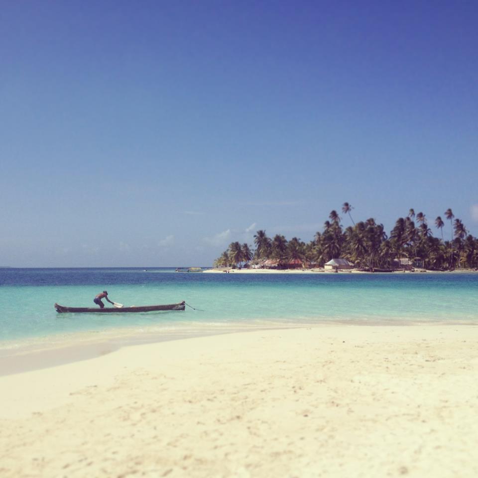 San Blas Panama . Pescador en Guna Yala o Kuna Yala
