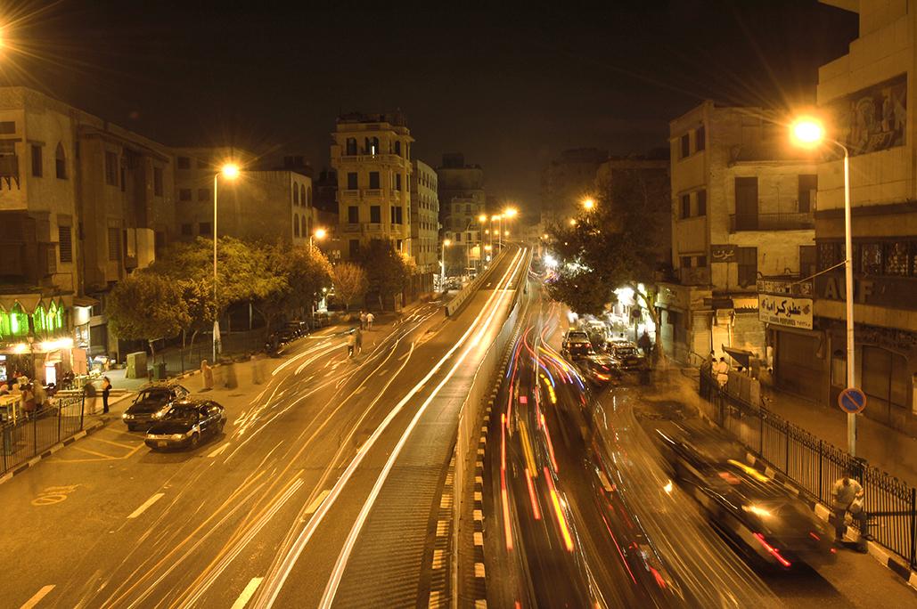 De noche en el Cairo