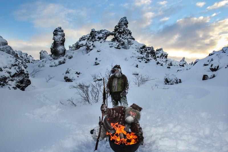 Navidad en Islandia. Dimmuborgir. Yule lads.