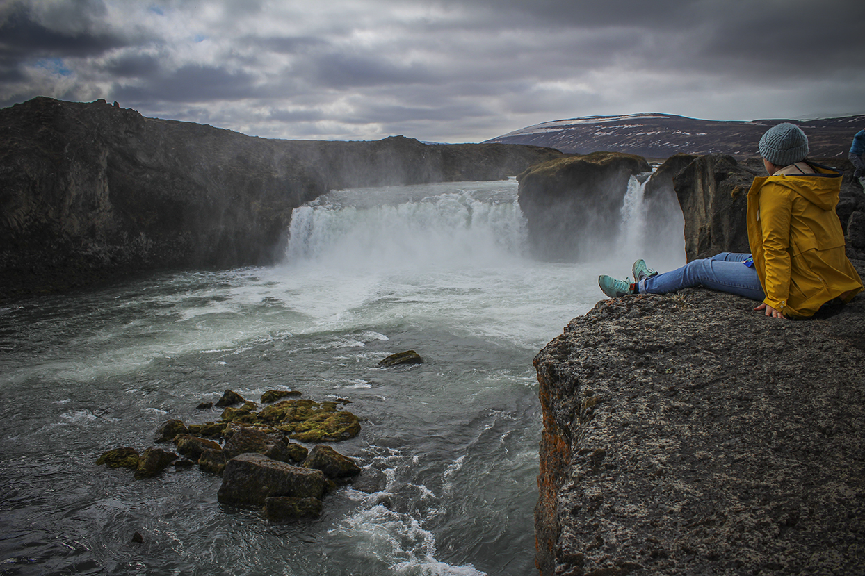 Cascada Godafoss en Islandia. Sonsoles Lozano.